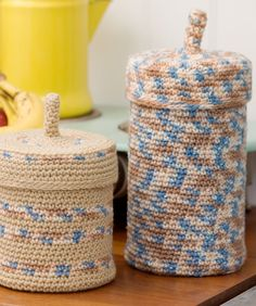 Crochet Keepers- this uses an H hook...  for me I think I would use a G so that the stitch will be tighter