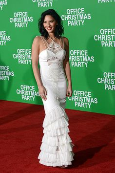 Olivia Munn wearing JOSIE   to the 'Office Christmas Party' Premiere in Los Angeles