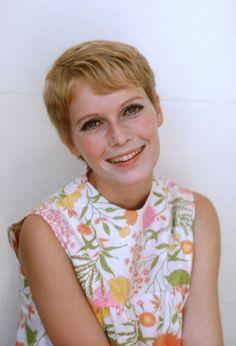 Mia Farrow's classic pixie