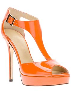 Lovely Orange Color Stiletto Heels Peep Toe Women Pumps 10531393 - High Heel Sandals - Dresswe.Com