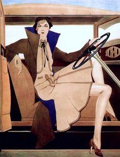Robe du Apres-Midi - c. 1932 - Pin-Up Art by Alberto Vargas