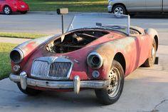 1960 MG MGA: Barn Racer - http://barnfinds.com/1960-mg-mga-barn-racer/