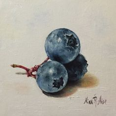 Blueberries Original Oil Painting Nina R.Aide by NinaRAideStudio #still…