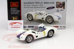 Maserati Tipo 61 Birdcage, Winner GP Cuba 1960, No.7, Stirling Moss. CMC, 1/18, Limited Edition 500 pcs. Price (2016): 600 EUR.