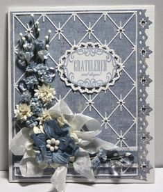 Unnis Papirhobby: Kort med blomster, DT Card and Scrap