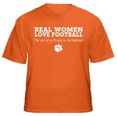 Real Women Love Football - Clemson Tigers Logo