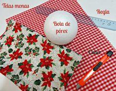Bolas de Navidad caseras • Celebra con Ana Christmas Ornament Crafts, Christmas Deco, Xmas, Christmas Tree, Decoration, Diy Crafts, Wreaths, Homemade, Sewing