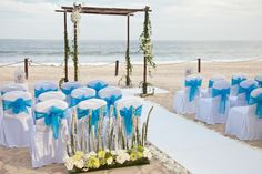 Walk down the aisle on the beach. Wedding at Barceló Los Cabos Palace Deluxe, in Los Cabos Mexico.
