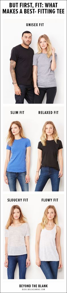 What Makes a Best-Fitting Tee?  Find out at http://blog.bellacanvas.com/fit-comes-first-everything-need-know-choosing-right-fit/