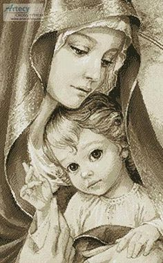 Blessed Mother Mary with child Jesus Religious Pictures, Jesus Pictures, Religious Icons, Religious Art, Blessed Mother Mary, Divine Mother, Blessed Virgin Mary, Immaculée Conception, Images Of Mary