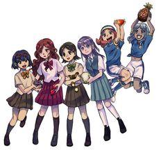 Friend Anime, Anime Best Friends, Anime Chibi, Kawaii Anime, Body Sketches, Inazuma Eleven Go, Akatsuki, Cute Pictures, Cosplay