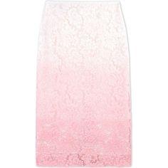 Burberry Prorsum 3/4 Length Skirt ($430) ❤ liked on Polyvore