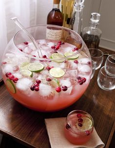 Clinton Kelly's sparkling cranberry-cherry punch