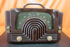 "Vintage 1942 Zenith 6D615 Consoltone ""Boomerang Dial"" Bakelite Tube Radio RARE   eBay"
