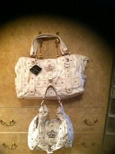 BABYphat WHITE FAUX Leather Handbag Shoulder BAG AND TOTE - WEEKENDER SET!!!  ~ GORGEOUS  & STYLISH FASHIONABLE SET ~  Designer: BABYPHAT   Description:  Condition: NEW & PRE OWN  Excellent Clean Condition  SILVER ACCENT - Rhinestones  Size:  MEDIUM (Handbag) Pre-own  SIZE: LARGE ...