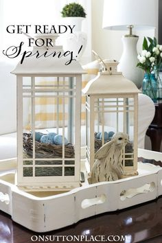 Easy DIY Easter Spring Decor Ideas that take what you already have but give it a whole new look!