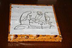 Doma robený adventný kalendár s čokoládkami. / Homemade adventscalender.