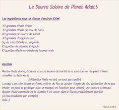 Beurre solaire planet addict