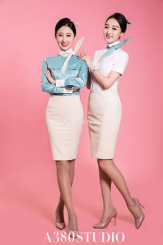Korean Airlines, Work Uniforms, Military Women, Cabin Crew, Girl Fashion, Womens Fashion, Flight Attendant, Beautiful Asian Girls, Traditional Outfits
