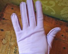 vintage lavender short gloves | CLEARANCE SALE Lovely Lavender Vint age Ladies' Short Gloves ...