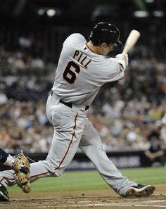Brett Pill's first major league at-bat is a two run homer. Go Pill!