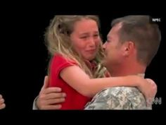 Surprise home coming of daddy soldier....yeah I cried!