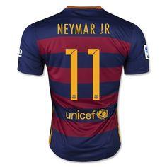 Youth 2015/16 FC Barcelona Neymar Jr Soccer Jersey and Shorts Set