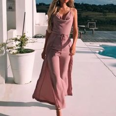 The elegant waist stitching small design straps jumpsuit with sleeveless is a good choice of fashion and you will love it in summer. Sleeveless Outfit, Jumpsuit Outfit, Casual Jumpsuit, Plain Hoodies, Fishtail Dress, Fashion Outfits, Womens Fashion, Fashion Clothes, Dress Silhouette