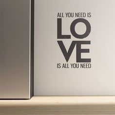 WALL+STICKER+in+'All+You+Need+Is+Love'+design