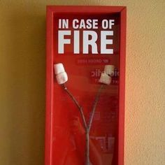IN CASE OF FIRE! too cute!