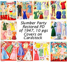 Slumber Party by Louise Rumely, Restored PD