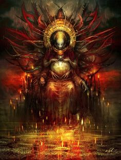 Os 7 príncipes do inferno nas sombrias ilustrações de fantasia de Kirsi Salonen