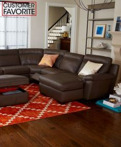 Julius Leather Power Motion Sectional Living Room Furniture Collection