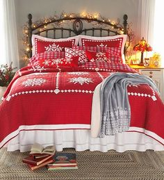 String lights add a touch of festive charm to the bedroom [From: Gracia Nolan]