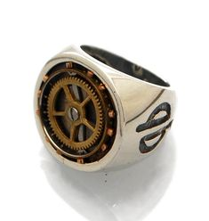 Mens Steampunk Ring-Signet