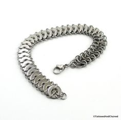 For men and women who love the hardware store, or just love unique jewelry, this bracelet incorporates small stainless steel washers into the