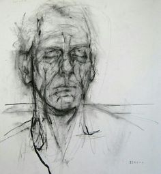 "Ginny Grayson ""Tired""...2009.Charcoal on paper via Neutral Notes."