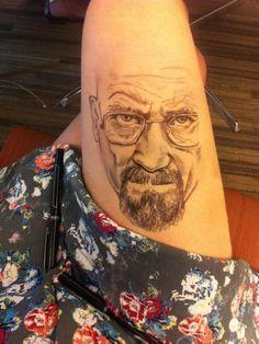 Walter White, el personaje principal de Breaking Bad, dibujado por Jody Steel