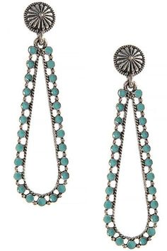 Dotted Drop Earrings - Jewelry Buzz Box  - 1
