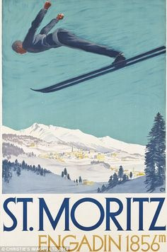 Carl Moos' (1878-1959) design advertising St Moritz is estimated to go for between £18,000-£22,000