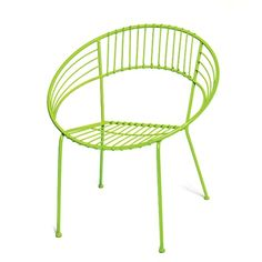 Round Metal Chair in Lime - Skalny | Burke Decor