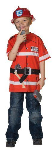 T-shirt Feuerwehr Uniform Kostüm Spieleshirt Feuerwehrkostüm Feuerbekämpfer Brandlöscher von Rubies, http://www.amazon.de/dp/B0018NIN3O/ref=cm_sw_r_pi_dp_QTHktb0NYENDX