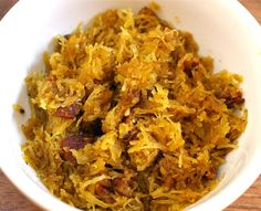 Spaghetti Squash with Bacon and Garlic – The Foodee Project