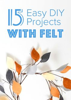 Simple DIY project that are made with the kids' crafting staple, felt, but are perfect for adults to make as well.
