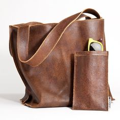 Brown leather bag hobo shoulder purse soft leather by maykobags, $230.00