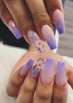 Mooie nagels 31 sweet pink acrylic coffin nails design for long nails – pink nails, coffin nails pink, coffin Purple Acrylic Nails, Blue Nail, Best Acrylic Nails, Purple Nails, Acrylic Nail Designs, Purple Nail Designs, Nail Designs Spring, Lilac Nails With Glitter, 3d Nail Designs
