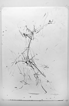Joe Howlett 'Figure depiction 3' - Charcoal and pencil on paper - (2012)