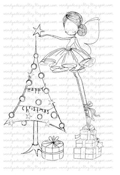 All Dressed Up For Christmas by alldressedupstamps on Etsy, £2.00