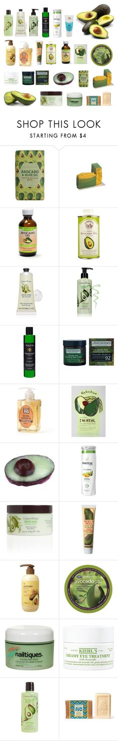 """""""Avocado Beauty Products"""" by dezaval ❤ liked on Polyvore featuring Crabtree & Evelyn, Philip B, Antipodes, Olivia Care, TONYMOLY, Pantene, Burt's Bees, The Face Shop, Boots Extracts and Nailtiques"""