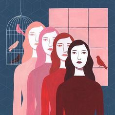 "737 mentions J'aime, 6 commentaires - Kiblind (@kiblind_magazine) sur Instagram : ""Amazing piece of art by the much talented @monicagarwood #illustration #illustrator #bird #women…"""